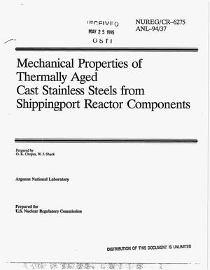Primary view of object titled 'Mechanical properties of thermally aged cast stainless steels from Shippingport reactor components'.