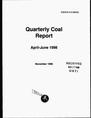Primary view of object titled 'Quarterly coal report, April--June, 1998'.