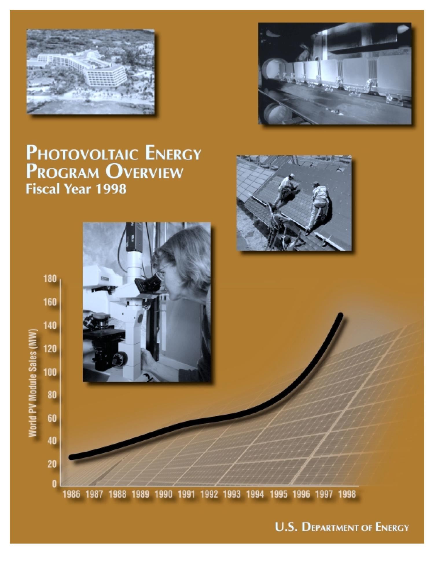 PV energy program overview FY 1998                                                                                                      [Sequence #]: 1 of 24