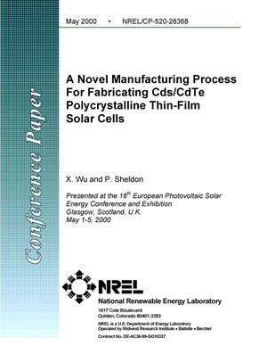Primary view of object titled 'A novel manufacturing process for fabricating CdS/CdTe polycrystalline thin-film solar cells'.