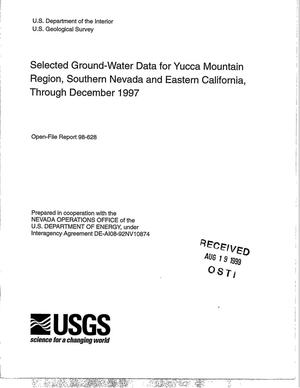 Primary view of object titled 'Selected ground-water data for Yucca Mountain Region, Southern Nevada and Eastern California, through December 1997'.