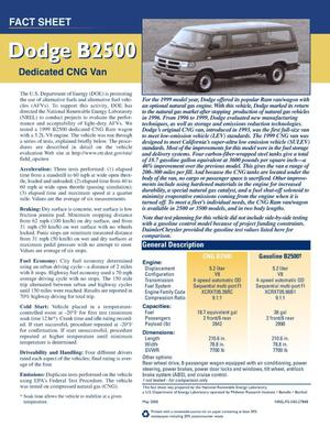 Primary view of object titled 'Dodge B2500 dedicated CNG van'.