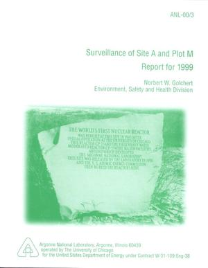 Primary view of object titled 'Surveillance of Site A and Plot M - Report for 1999.'.