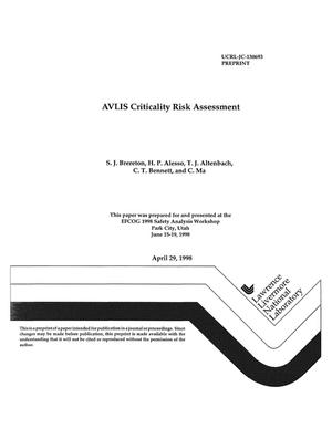 Primary view of object titled 'AVLIS Criticality risk assessment'.