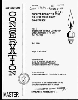 Primary view of object titled 'Proceedings of the 1998 oil heat technology conference'.