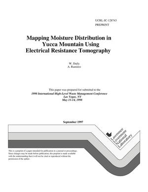 Primary view of object titled 'Mapping moisture distribution in Yucca Mountain using electrical resistance tomography'.