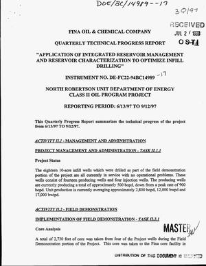 Primary view of object titled 'Application of integrated reservoir management and reservoir characterization to optimize infill drilling. Quarterly technical progress report, June 13--September 12, 1997'.