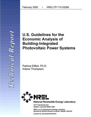 Primary view of object titled 'U.S. guidelines for the economic analysis of building-integrated photovoltaic power systems'.