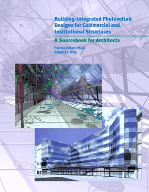 Primary view of object titled 'Building integrated PV for commercial and institutional structures, a sourcebook for architects'.