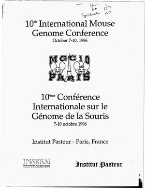 Primary view of object titled '10. international mouse genome conference'.