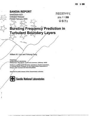 Primary view of object titled 'Bursting frequency prediction in turbulent boundary layers'.