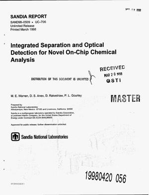 Primary view of object titled 'Integrated separation and optical detection for novel on-chip chemical analysis'.