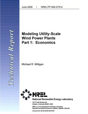 Primary view of object titled 'Modeling utility-scale wind power plants, part 1: Economics'.