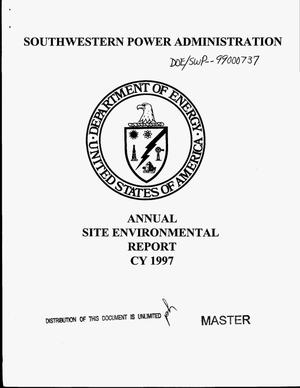 Primary view of object titled 'Southwestern Power Administration annual site environmental report CY 1997'.