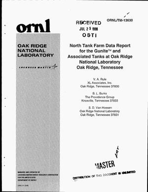 Primary view of object titled 'North Tank Farm data report for the Gunite and Associated Tanks at Oak Ridge National Laboratory'.