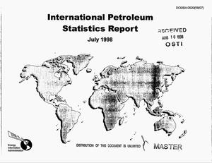 Primary view of object titled 'International petroleum statistics report, July 1998'.
