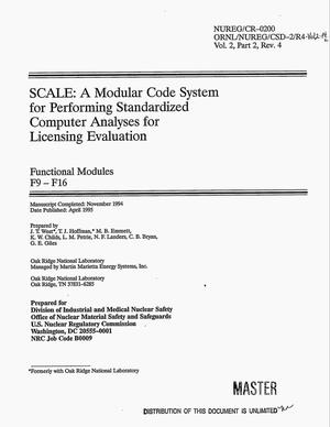 Primary view of object titled 'SCALE: A modular code system for performing standardized computer analyses for licensing evaluation. Functional modules F9--F16 -- Volume 2, Part 2, Revision 4'.