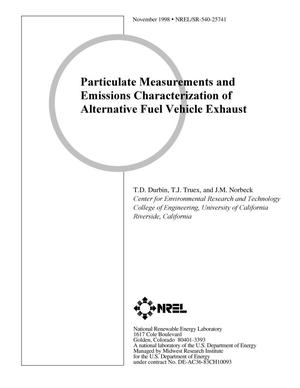 Primary view of object titled 'Particulate Measurements and Emissions Characterization of Alternative Fuel Vehicle Exhaust'.