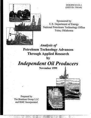 Primary view of object titled 'Analysis of Petroleum Technology Advances Through Applied Research by Independent Oil Producers'.