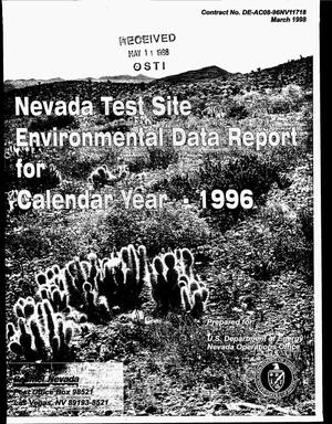 Primary view of object titled 'Nevada Test Site environmental data report for calendar year 1996'.