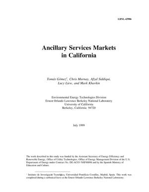 Primary view of object titled 'Ancillary services market in California'.
