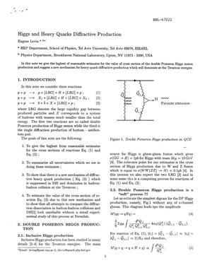 Primary view of object titled 'HIGGS AND HEAVY QUARKS DIFFRACTIVE PRODUCTION.'.