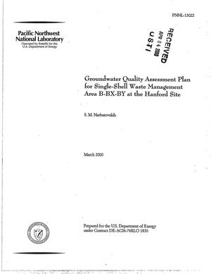 Primary view of object titled 'Groundwater quality assessment plan for single-shell waste management area B-BX-BY at the Hanford Site'.