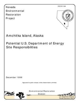 Primary view of object titled 'Amchitka Island, Alaska, Potential U.S. Department of Energy Site Responsibilities'.