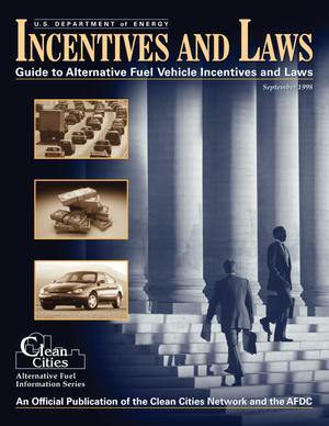 Primary view of object titled 'Guide to alternative fuel vehicle incentives and laws: September 1998'.