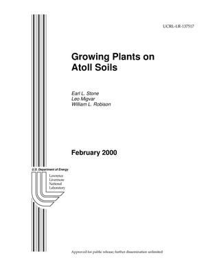 Primary view of object titled 'Growing plants on atoll soils'.