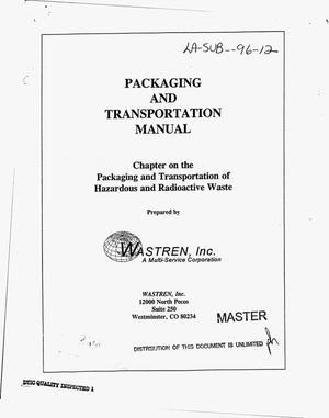 Primary view of object titled 'Packaging and transportation manual. Chapter on the packaging and transportation of hazardous and radioactive waste'.