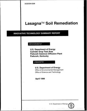 Primary view of object titled 'Lasagna{trademark} soil remediation'.