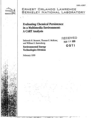 Primary view of object titled 'Evaluating Chemical Persistence in a Multimedia Environment: ACART Analysis'.