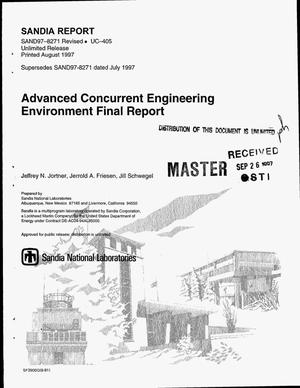 Primary view of object titled 'Advanced concurrent engineering environment final report'.