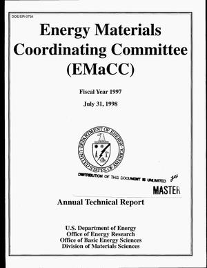 Primary view of object titled 'Energy Materials Coordinating Committee, fiscal year 1997. Annual technical report'.