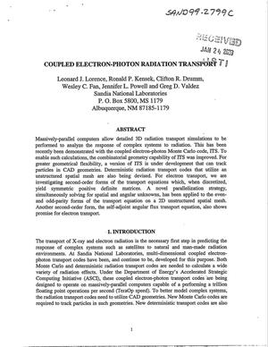 Primary view of object titled 'Coupled electron-photon radiation transport'.