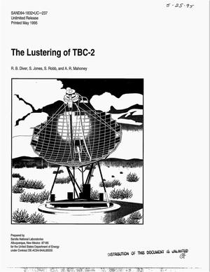 Primary view of object titled 'The lustering of TBC-2'.
