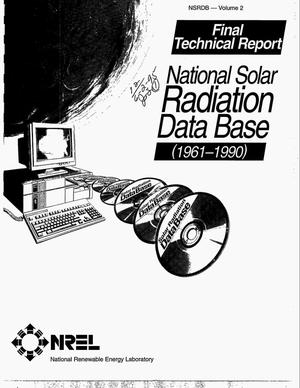 Primary view of object titled 'National Solar Radiation Data Base (1961-1990). Final technical report. Volume 2'.