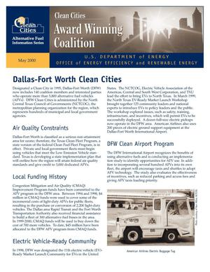 Primary view of object titled 'Dallas-Fort Worth clean cities: Award winning coalition'.