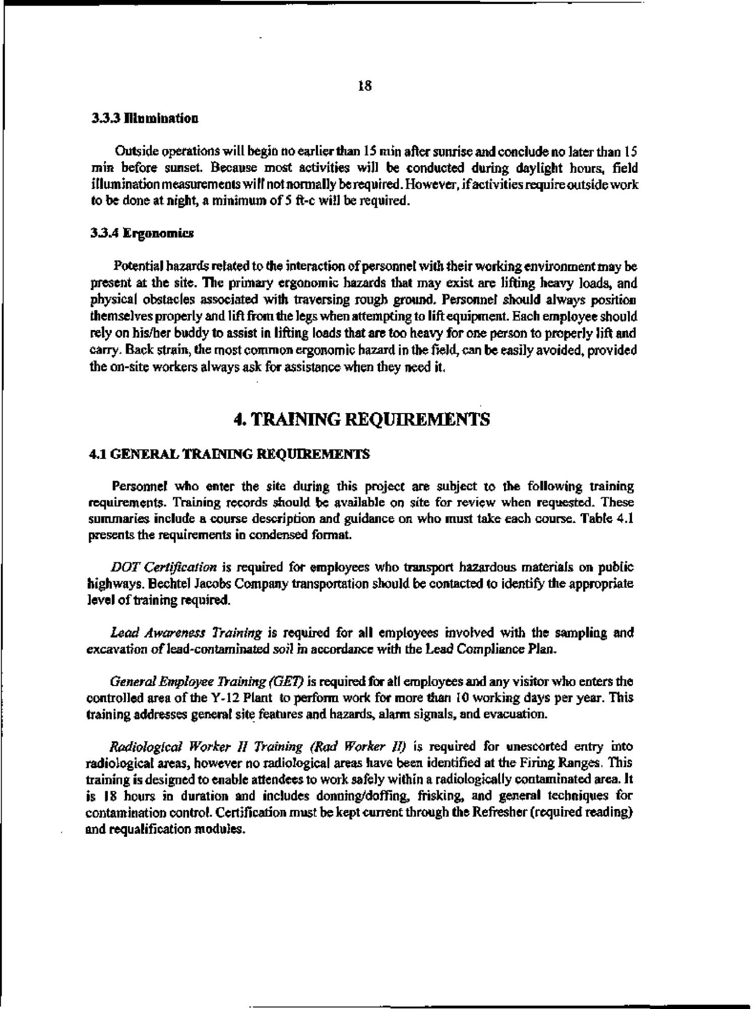 Health and safety plan for the removal action at the former YS-860 Firing Ranges, Oak Ridge Y-12 Plant, Oak Ridge, Tennessee                                                                                                      [Sequence #]: 28 of 52
