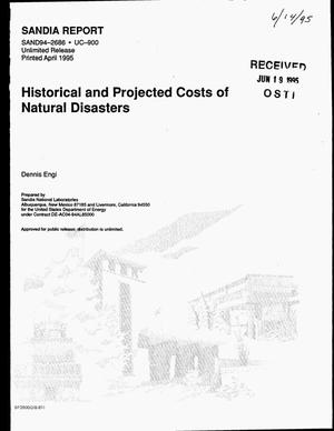 Primary view of object titled 'Historical and projected costs of natural disasters'.