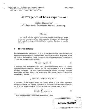 Primary view of object titled 'CONVERGENCE OF BASIS EXPANSIONS.'.