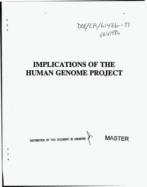 Primary view of object titled 'Implications of the Human Genome Project'.