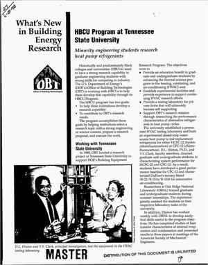 Primary view of object titled 'HBCU Program at Tennessee State University'.