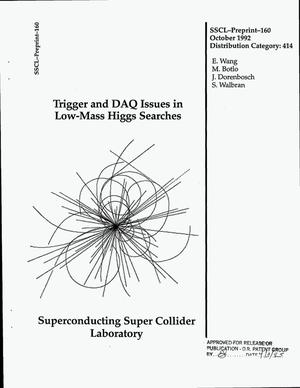 Primary view of object titled 'Trigger and DAQ issues in low-mass Higgs searches'.