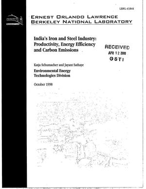 Primary view of object titled 'India's iron and steel industry: Productivity, energy efficiency and carbon emissions'.