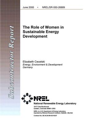 Primary view of object titled 'The role of women in sustainable energy development'.