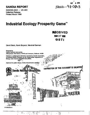 Primary view of object titled 'Industrial ecology Prosperity Game{trademark}'.