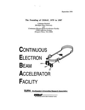 Primary view of object titled 'The founding of CEBAF, 1979 to 1987'.