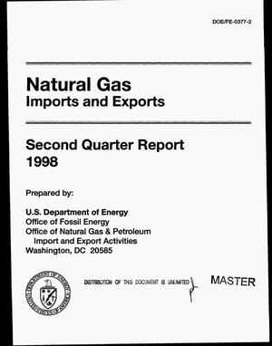 Primary view of object titled 'Natural gas imports and exports. Second quarter report, 1998'.